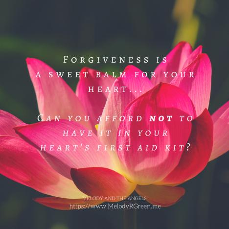 forgiveness is a sweet balm